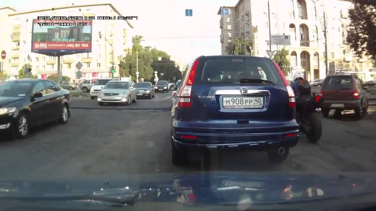 NEW Car And Motorbike Accident In RussiaHonda CR V Crash
