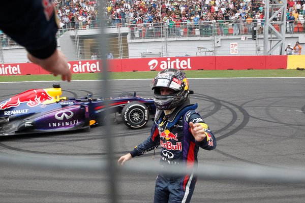 vettel takes 4th title, wins grand prix