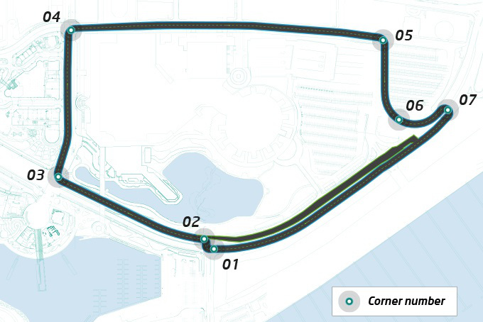 The Formula E 2015 Long Beach ePrix will run on a shortened Long Beach Grand Prix course.