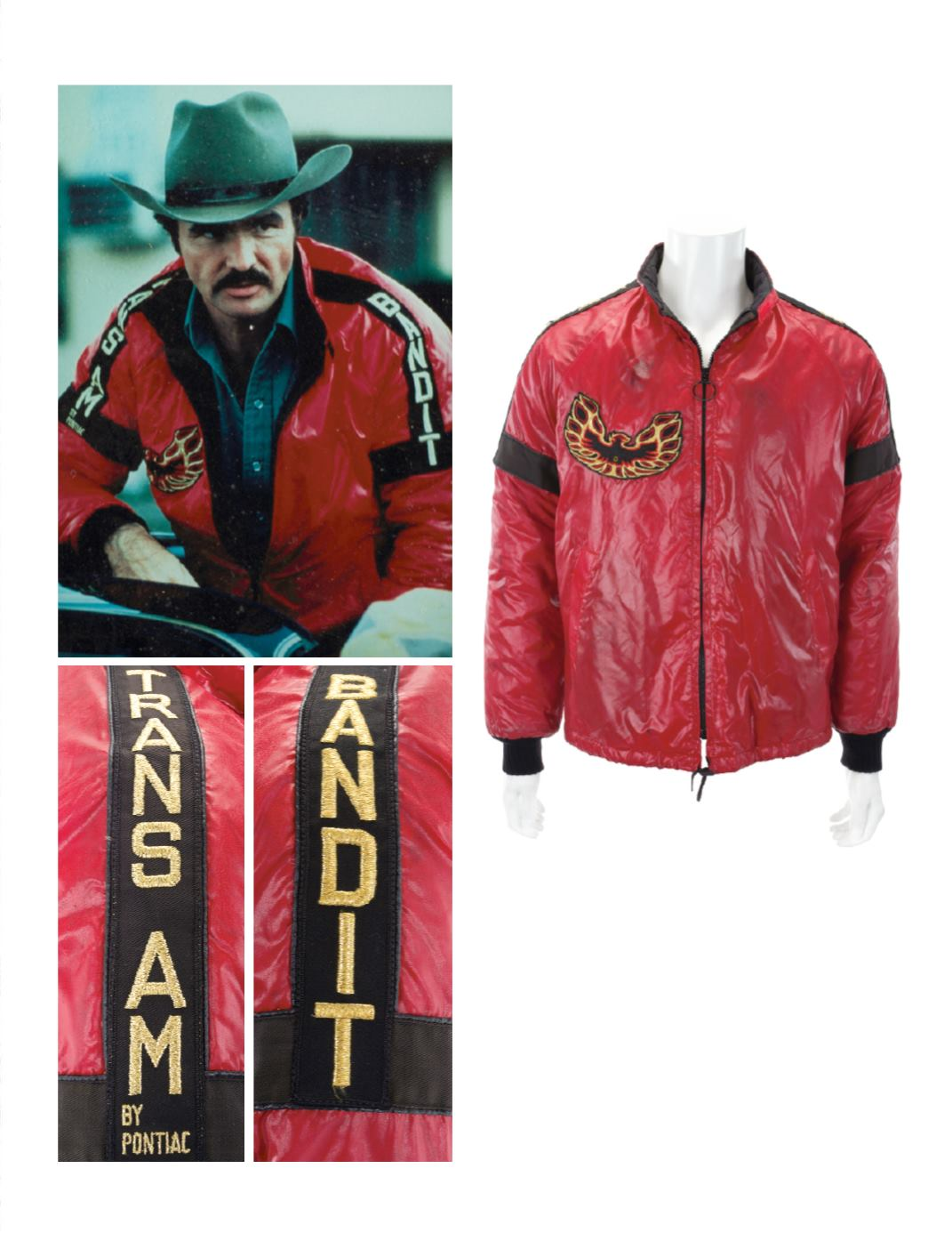 """Reynolds' satin jacket from """"Smokey and the Bandit""""."""