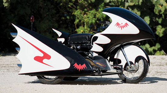 George Barris' BatCycle from the 1960s television series.