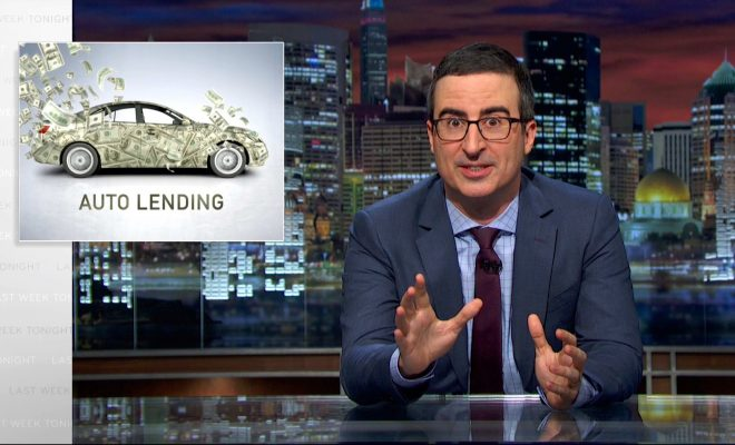 John Oliver Talks About Auto Lending
