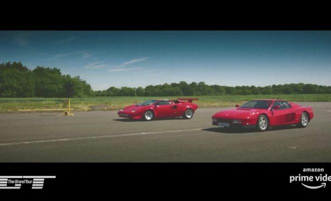 The Grand Tour Lamborghini Countach Vs Ferrari Testarossa Drag